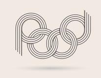 Logotipo abstrato Foto de Stock Royalty Free