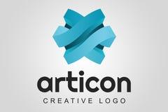 Logotipo abstrato - Asrticon imagens de stock royalty free