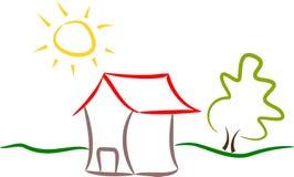 Logotipo abstrato da casa Fotografia de Stock