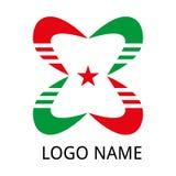 Logotipo abstrato da companhia ilustração do vetor