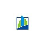 Logotipo abstrato de construção do vetor da finança do negócio Fotografia de Stock