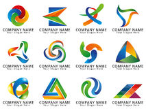 Logotipo abstrato do conceito dos meios 3D Imagem de Stock
