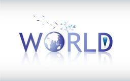 Logotipo abstrato do globo do mundo do vetor ilustração royalty free