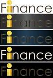 Logotipo abstrato do negócio de dinheiro da finança da inscrição Fotos de Stock