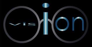 Logotipo abstrato do negócio dos vidros da visão da inscrição Imagem de Stock