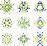 Logotipo abstrato do sol Imagens de Stock Royalty Free