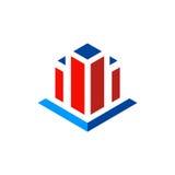 Logotipo abstrato do vetor da construção civil Imagem de Stock