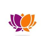 Logotipo abstrato do vetor da flor de lótus da beleza Fotografia de Stock Royalty Free