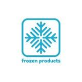 Logotipo abstrato do vetor para produtos congelados Fotos de Stock