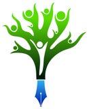 Logotipo académico Imagen de archivo libre de regalías