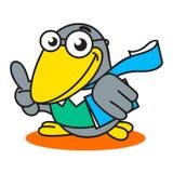 Logotipo académico del cuervo Foto de archivo