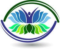 logotipo activo del loto Imagen de archivo libre de regalías