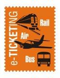 Logotipo - agente de viagens Imagens de Stock