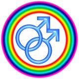 Logotipo alegre da circular do amor Foto de Stock