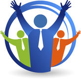 Logotipo alegre de los pares libre illustration