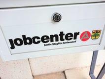 Logotipo alemán de la agencia de empleo fotografía de archivo