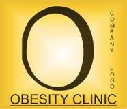 Logotipo alfab?tico del problema de la obesidad para la compa??a que proporciona soluciones foto de archivo libre de regalías