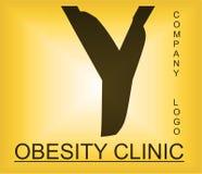 Logotipo alfab?tico del problema de la obesidad para la compa??a que proporciona soluciones foto de archivo