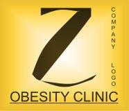 Logotipo alfab?tico del problema de la obesidad para la compa??a que proporciona soluciones fotos de archivo
