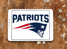 Logotipo americano da equipa de futebol dos New England Patriots Imagens de Stock