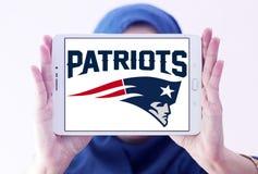 Logotipo americano del equipo de fútbol de los New England Patriots fotos de archivo