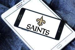 Logotipo americano del equipo de fútbol de los New Orleans Saints fotos de archivo