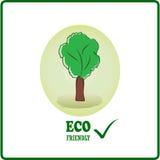 Logotipo amistoso de Eco Imagen de archivo libre de regalías