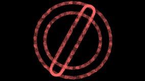 Logotipo anaranjado animado, cantidad del vfx, rotación de los círculos exhaustos de la tiza y óvalos ilustración del vector