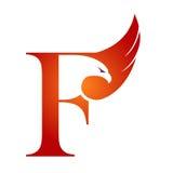 Logotipo anaranjado de Hawk Initial F del vector Imágenes de archivo libres de regalías