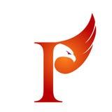 Logotipo anaranjado de Hawk Initial I del vector Imagen de archivo libre de regalías