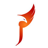 Logotipo anaranjado de Hawk Initial J del vector imagen de archivo