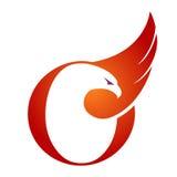 Logotipo anaranjado de Hawk Initial O del vector Foto de archivo