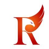 Logotipo anaranjado de Hawk Initial R del vector Foto de archivo