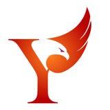 Logotipo anaranjado de Hawk Initial Y del vector Imágenes de archivo libres de regalías