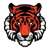Logotipo animal da ilustração do vetor da cabeça da mascote do tigre Fotografia de Stock