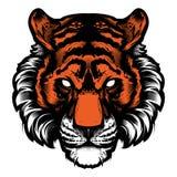 Logotipo animal da ilustração do vetor da cabeça da mascote do tigre Imagem de Stock