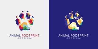 Logotipo animal da pegada ilustração stock