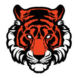 Logotipo animal del ejemplo del vector de la cabeza de la mascota del tigre ilustración del vector