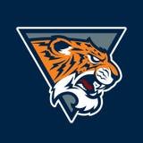 Logotipo animal del ejemplo del vector de la cabeza de la mascota del tigre Imagen de archivo