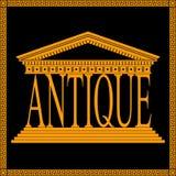 Logotipo antiguo del tema Foto de archivo libre de regalías