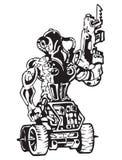 Logotipo apocalíptico do apocalipse do soldado do cargo ilustração do vetor