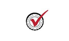 Logotipo aprobado del icono Fotos de archivo libres de regalías