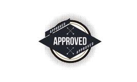 Logotipo aprobado del icono Foto de archivo libre de regalías