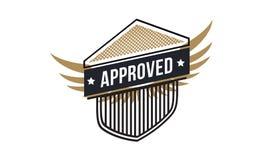 Logotipo aprobado del icono Foto de archivo