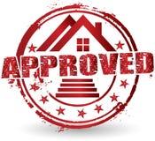 Logotipo aprovado home Fotografia de Stock