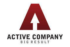 Logotipo ativo da empresa Fotografia de Stock Royalty Free