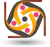 Logotipo ativo dos pares Fotografia de Stock Royalty Free
