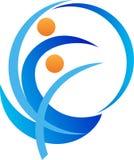 Logotipo ativo dos povos ilustração royalty free