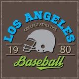 Logotipo atlético do futebol do basebol do varcity da faculdade dos campeões de Los Angeles, emblema, sinal Fotos de Stock Royalty Free
