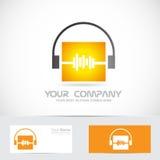 Logotipo audio de la música de los auriculares de Volme libre illustration